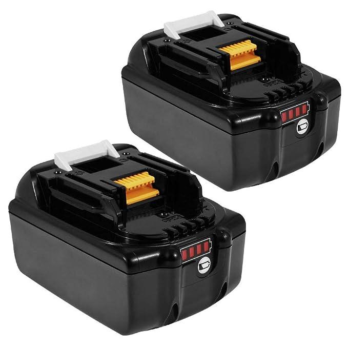 16 opinioni per Powayup 2x BL1860B 18V 5,5 Ah batteria al litio per batterie Makita 18V BL1860B