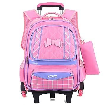 Amazon Com Girls Waterproof Rolling School Bag For Children