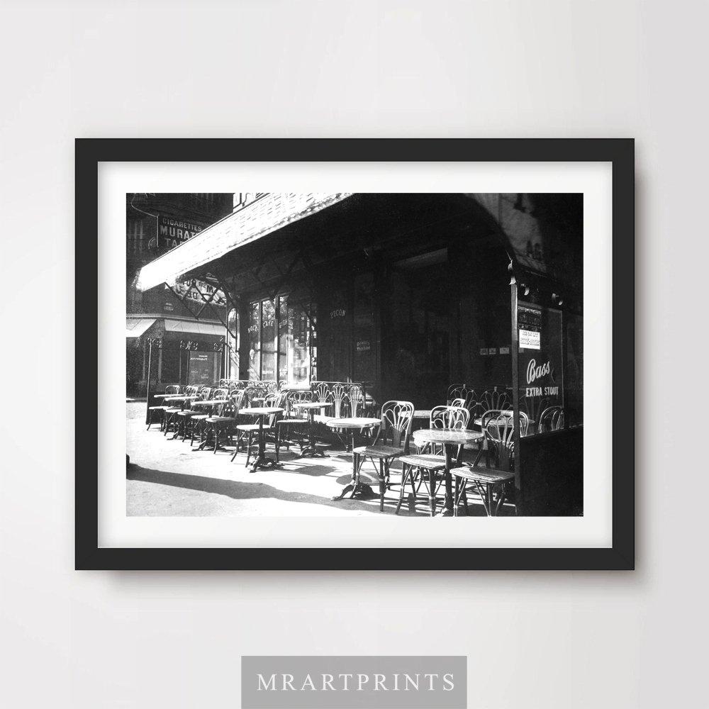10 Sizes VINTAGE 1920s PARIS CAFE ART PRINT POSTER Restaurant Coffee Black White Home Decor Interior Design Wall Picture A4 A3 A2