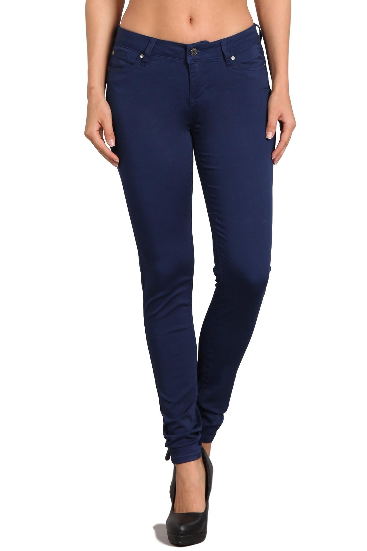 Celebrity Pink Women's Mid Rise Colored Skinny Pants CJ21038Z35 (Medeival Blue, 7/28)