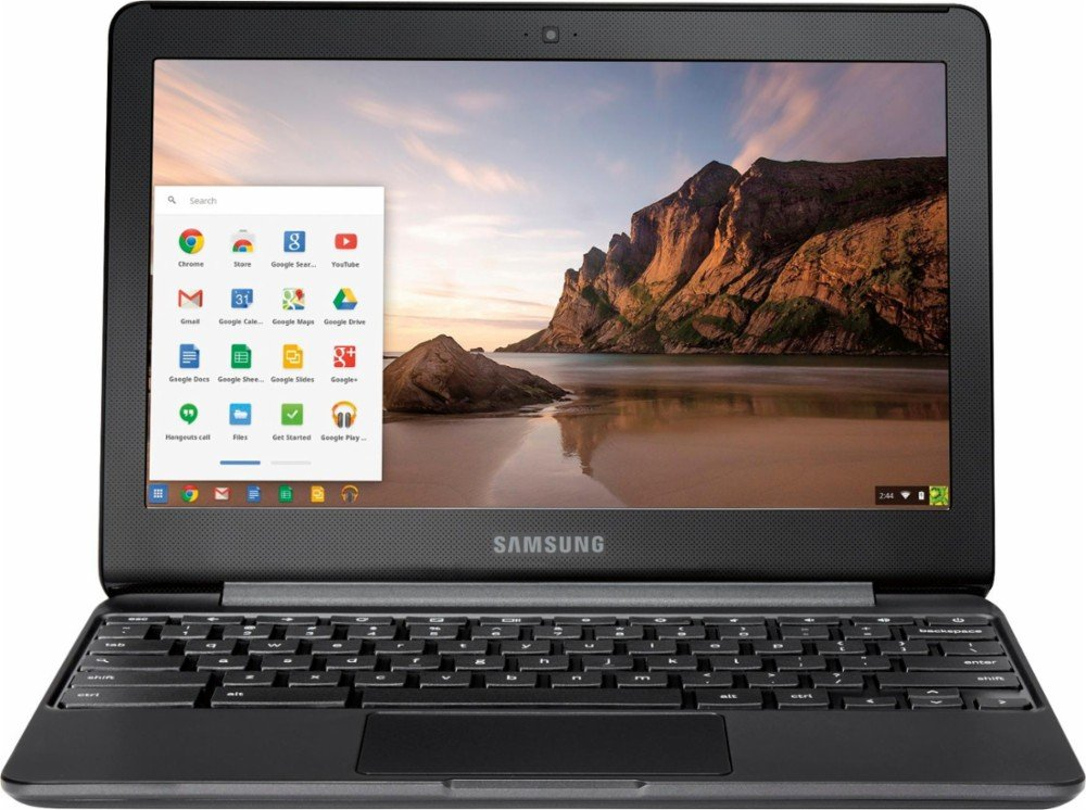SAMSUNG 11.6″ Chromebook with Intel N3060 up to 2.48GHz, 4GB Memory, 16GB eMMC Flash Memory, Bluetooth 4.0, USB 3.0, HDMI, Webcam, Chrome Operating System, Black