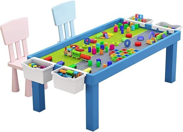 Juguetes para apilar Mesa de los niños Compatible Educación construcción de Juguete Juego de Mesa Tabla tamaño de los gránulos de Almacenamiento de Tablas Temprana Habilidades motoras: Amazon.es: Hogar
