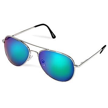 Full espejo marco de metal polarizadas de la lente Classic Aviator Gafas de sol mate -
