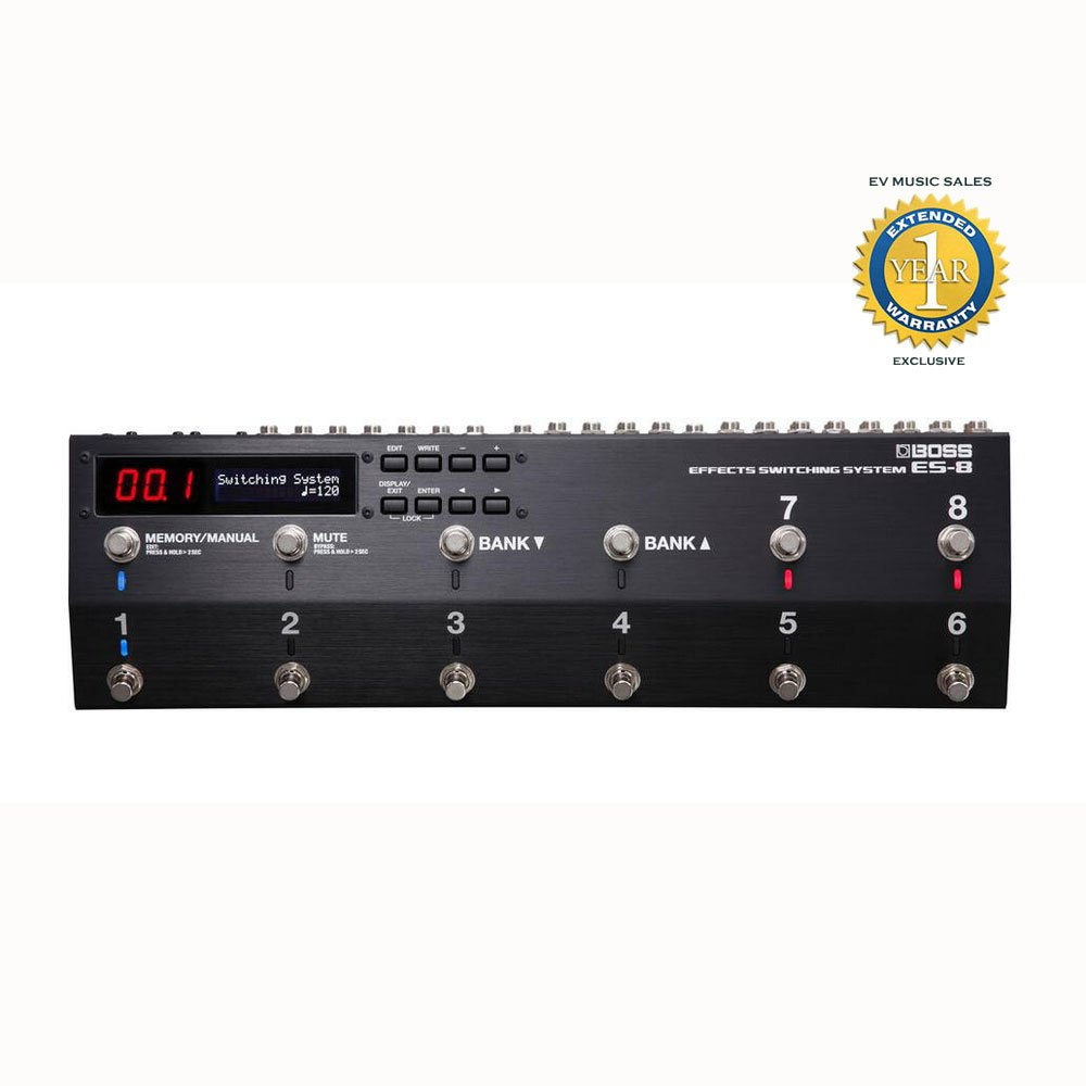 Boss ES-8 Programmable Effects Switching System with 1 Year Free Extended Warranty