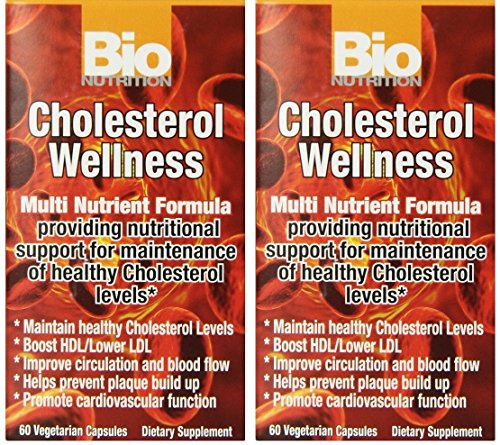 Bio Nutrition Cholesterol Wellness Veggie Capsules - 60 Ea, 2 Pack by Bio Nutrition