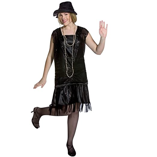 f092168c42379 Amazon.com  Gatsby Girl Black Adult Plus Size Costume (Plus)  Toys   Games