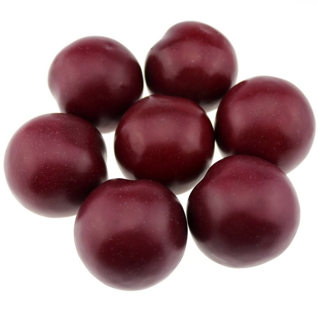 Gresorth 8pcs Lifelike Artificial Red Brin Faux Fake Plum Fruit Home Kitchen Christmas Desk Decor