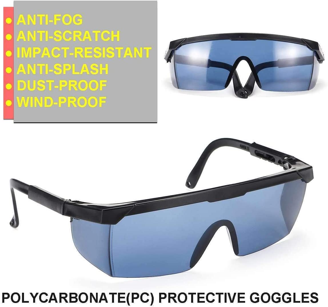 DER Gafas de Seguridad, Caja Protectora contra la Niebla Gafas de Polvo de Viento Splash Gafas Gafas de esquí Casco de Gafas de Sol de los vidrios para Uso Personal, Profesional