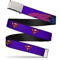 Buckle-Down Uni-Sex Adults Web Belt-Bizarro Superman, Bizzaro