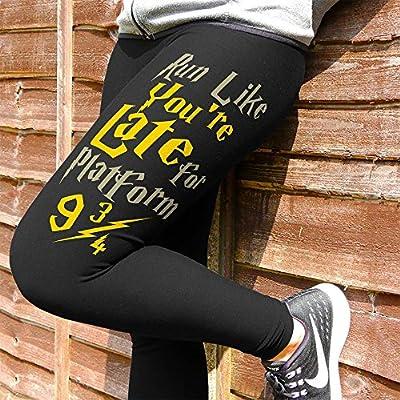 Run Like You're Late For Platform 9 3/4 Harry Potter Full Length Cotton Running Workout Leggings