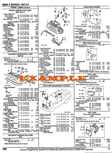 1988 - 1992 AUDI 80/90 PART NUMBERS, LABOR & PRICE ILLUSTRATED SHEETS