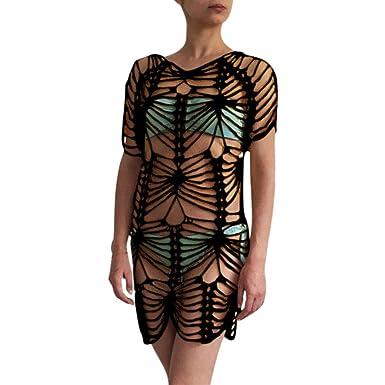 2ebd3c2bbd9 HOMEBABY Women Beach Cover Up - Girls Beach Dress Long Suit Bikini Swimwear Beach  Swimsuit Smock Holiday Knitted Crochet Cover UPS Summer Cardigan Openwork