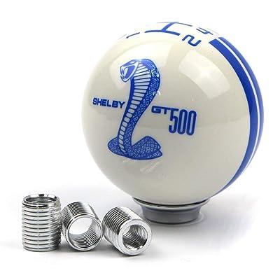 Dreamseek for Ford Mustang Car Gear Shift Knob 5 Speed Cobra Logo Manual Handle Ball (Blue): Home Improvement