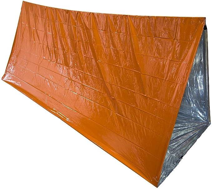 Tienda de supervivencia ultraligera para 2 personas refugio de emergencia para senderismo, camping, kits de supervivencia al aire libre