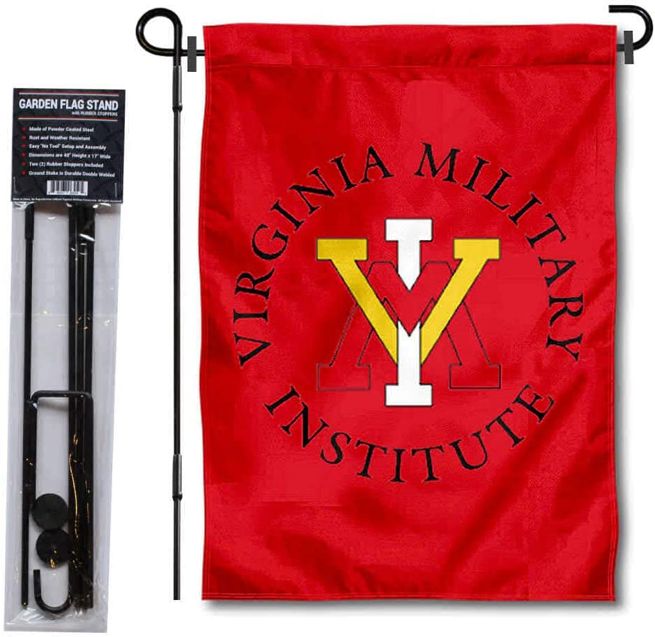 College Flags & Banners Co. VMI Keydets Garden Flag and Flag Stand Pole Holder Set