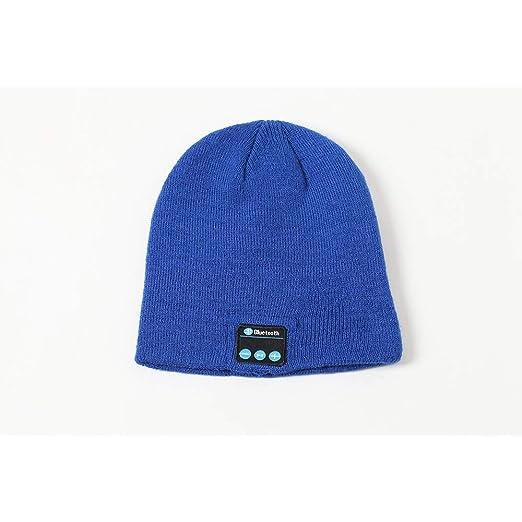 HLW Bluetooth 5.0 Winter Warm Knit Cap Gorra de música inalámbrica ...
