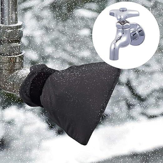 Cubierta para grifos de Exterior 2 Piezas Chaqueta de Grifo para protecci/ón contra Las heladas de Invierno 21cm x 15cm Cubierta Protectora de Grifo para Invierno de jard/ín