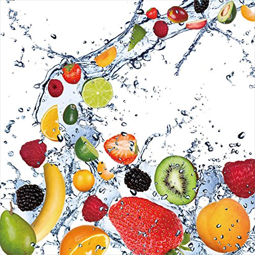 Fruit Splash II Tempered Glass Wall Art, adorable kitchen wall art