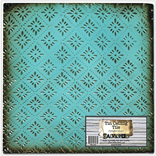 salvaged-by-bci-crafts-tin-ceiling-tile-bright-blue-rosette