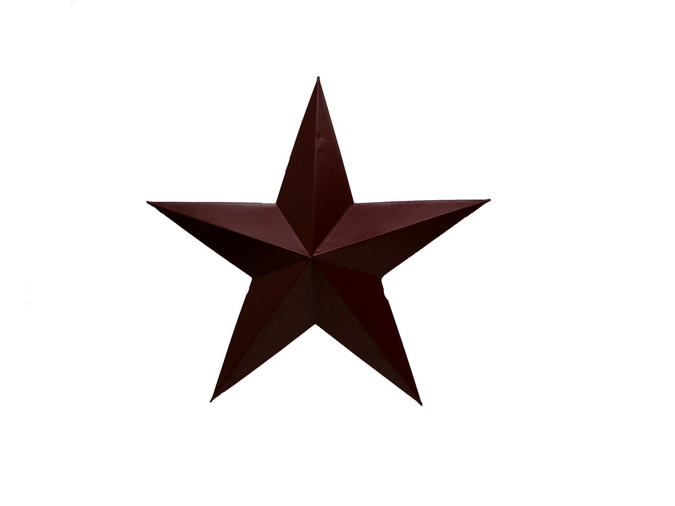 Craft Outlet Tin Star Wall Decor, 30-Inch, Barn Red
