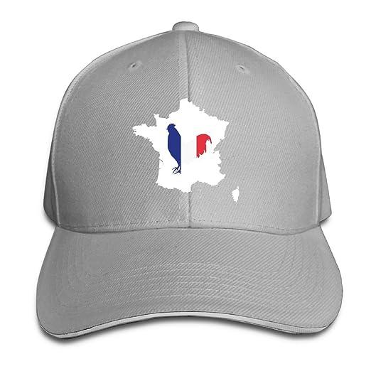 PB-ZINAN Adult Vintage France Cock Gallic Rooster Snapback Hat Dad Hat  Black Sandwich Peaked 4ebcb1e354e