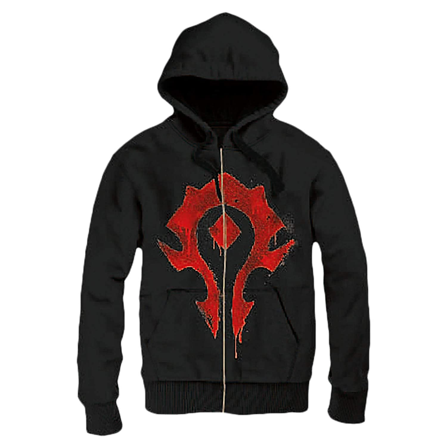 Warcraft Giacca con Cappuccio World of Horde Spray Logo Cotton Black