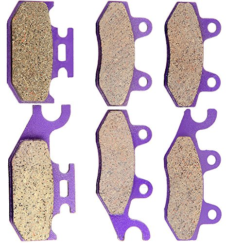SCITOO Kevlar Carbon Fiber Brake Pads Fit for 04 05 06 07 08 09 11 12 Yamaha