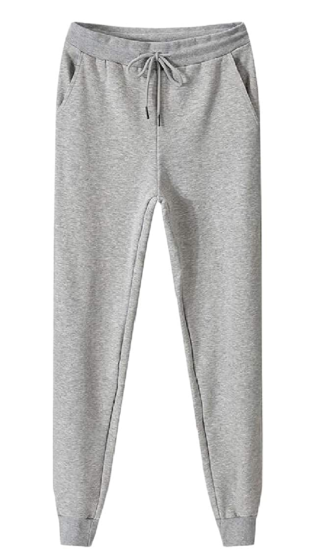 Sweatwater Mens Strings Casual Sports Sweatpants Thick Elastic Waist Jogger Pants