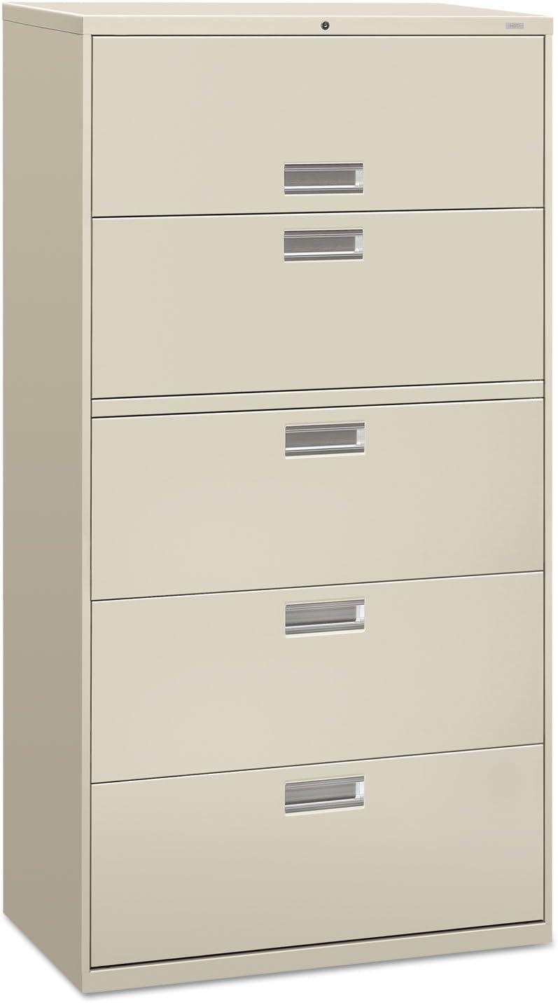 Amazon Com 600 Series 36 W 5 Drawer File Finish Light Gray