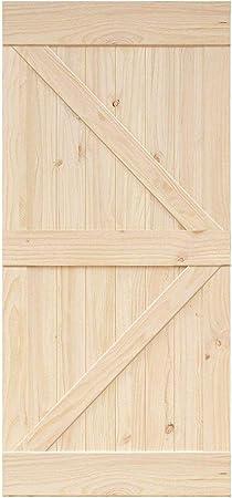 Homacer - Panel de madera de pino natural para puerta corredera, rústico, resistente y fácil de montar, perfecto para interior, exterior, armario y dormitorio: Amazon.es: Bricolaje y herramientas
