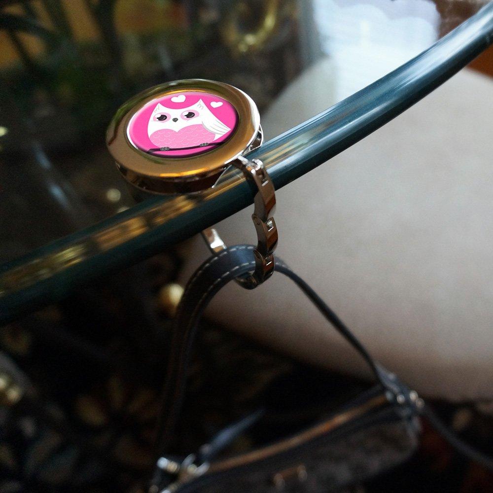 Pink Chevrons /& Arrows Foldable Retractable Purse Bag Handbag Hook Hanger Holder