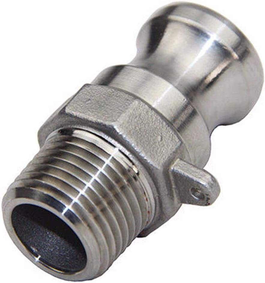 Thread Specification: Type A Maslin 304 Stainless Steel Homebrew Camlock Fitting Adapter 1//2 MPT FPT Barb Camlock Quick Disconnect for Hose Pumps Fittings 6 Types