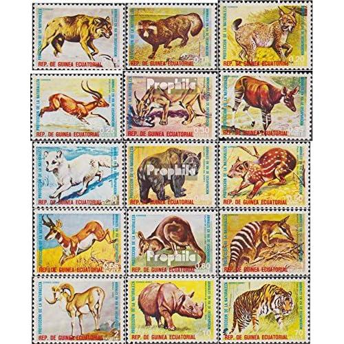 Äquatorialguinea 499-513 (complète.Edition.) 1974 rares Animaux (Timbres pour les collectionneurs)
