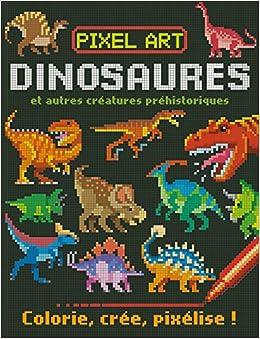 Amazonin Buy Pixel Art Dinosaures Colorie Cree