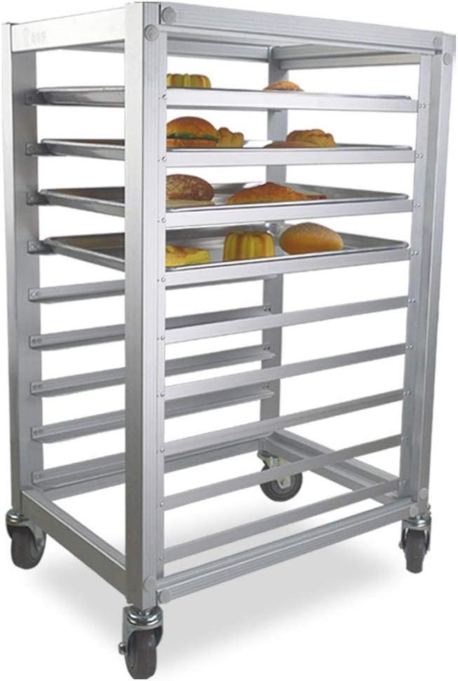 Commercial Bun Pan Rack With Wheel Mobile Kitchen Sheet Pan Rack Aluminum Pizza Pan Racks 9 Sheet Aluminum Amazon Co Uk Kitchen Home