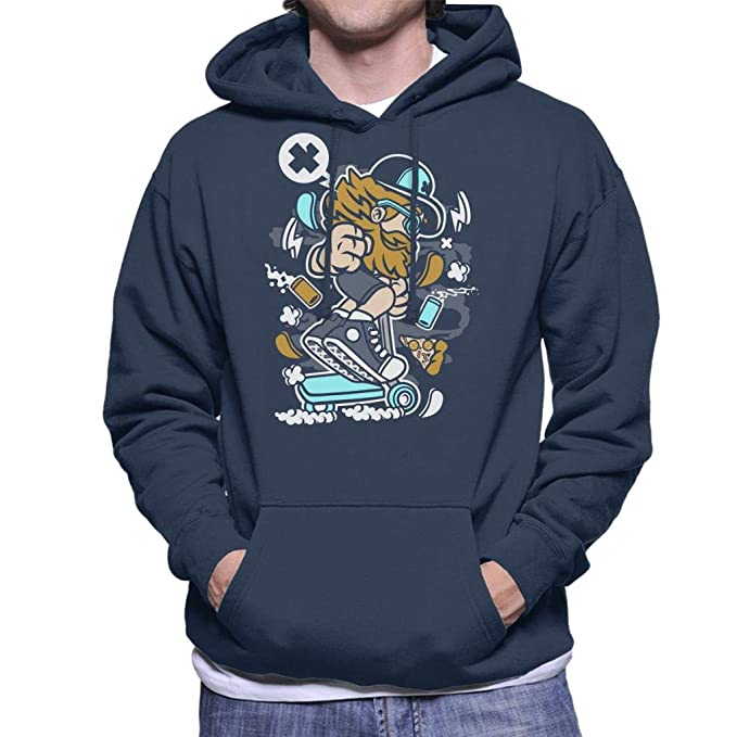 Go Ride Bearded Skater Cartoon Mens Hooded Sweatshirt: Amazon.es: Ropa y accesorios