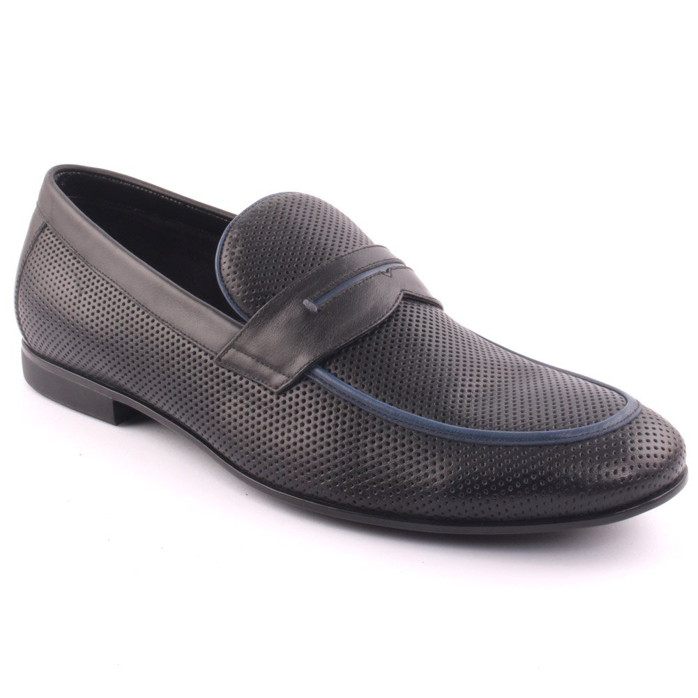 Unze Men's 'Telldin' Leather Dress Slip-ONS Formal Prom Wedding Party Office Oxfords UK Size 7-11 - A015-5-1 by Unze London (Image #1)