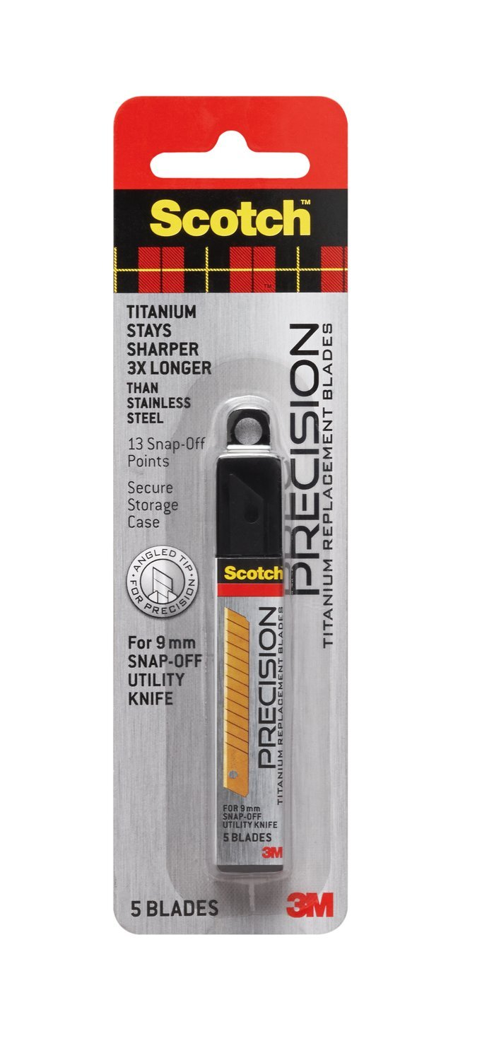 3M Scotch Utility Knife Refill Blades, Small, 5/pack