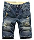 LATUD Fashion Men Summer Relaxed-Fit Casual Denim Short US 33/Tag 34