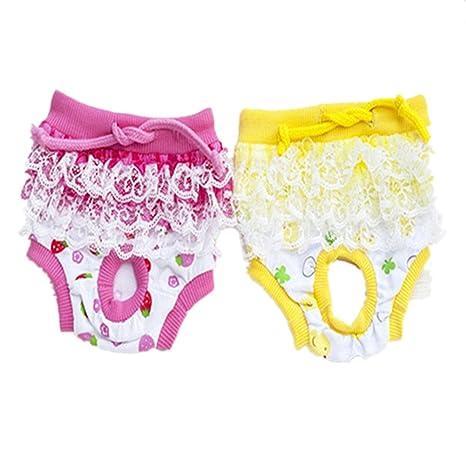 Fully 2X abrigos lavables para perros Períodos femeninos Períodos de temporada menstruales sandalias sanitarias de algodón