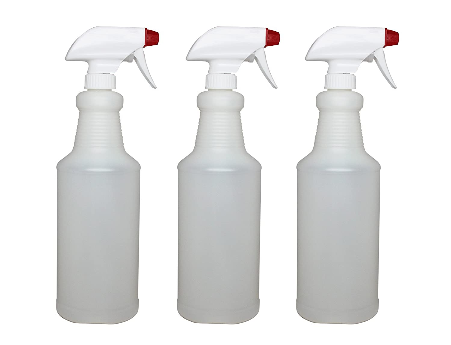 adc8e58bc16f Pinnacle Mercantile Plastic Spray Bottles Leak Proof Technology Empty 32 oz  Pack of 3 Made in USA