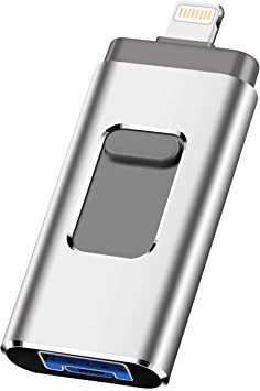 Black-256gb iOS Flash Drive for iPhone Photo Stick 256GB SZHUAYI Memory Stick USB 3.0 Flash Drive Thumb Drive for iPhone iPad Android and Computers