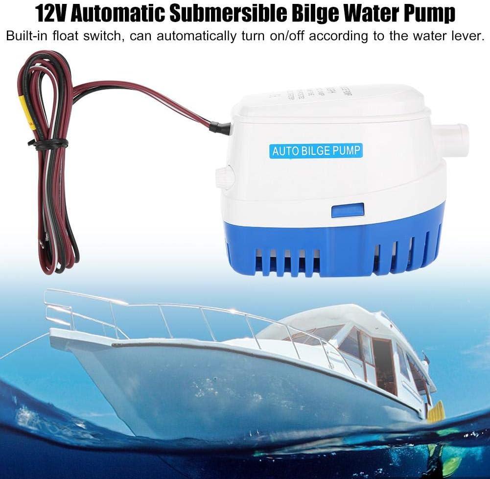 12V Autom/ática Bomba Sumergible de Agua de Sentina para Barco con Interruptor Flotador