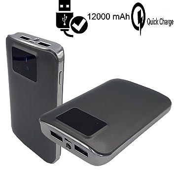Cargador portátil CEKA TECH® Batería externa de 12000mAh 2 ...