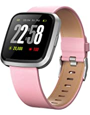2019 Version H4 Health&Sports 2in1 Smart Watches for Men&Women with All-Day Heart Rate Blood Pressure Sleep Monitor/Activity Tracker/Color Screen IP67 Waterproof/Compare with Android & iOS Phones
