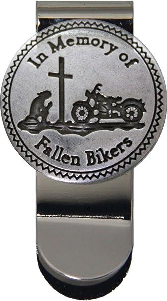 Details about  /In Memory of Fallen Bikers Money Clip Men/'s Motorcycle Wallet Credit Card Holder