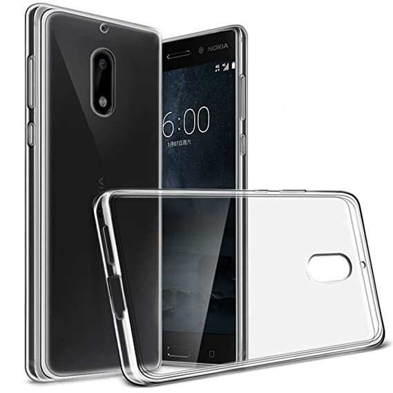 hot sale online 3e4ae fac57 Nokia 6 Case, Yiakeng Nature TPU Soft Cover Crystal Case Clear Skin Soft  Case Slim Case for Nokia6 5.5