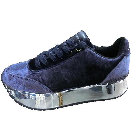 Calvin klein jeans donna 2254 blu - scarpe sneaker cate velvet ... 8f3706c8cc8