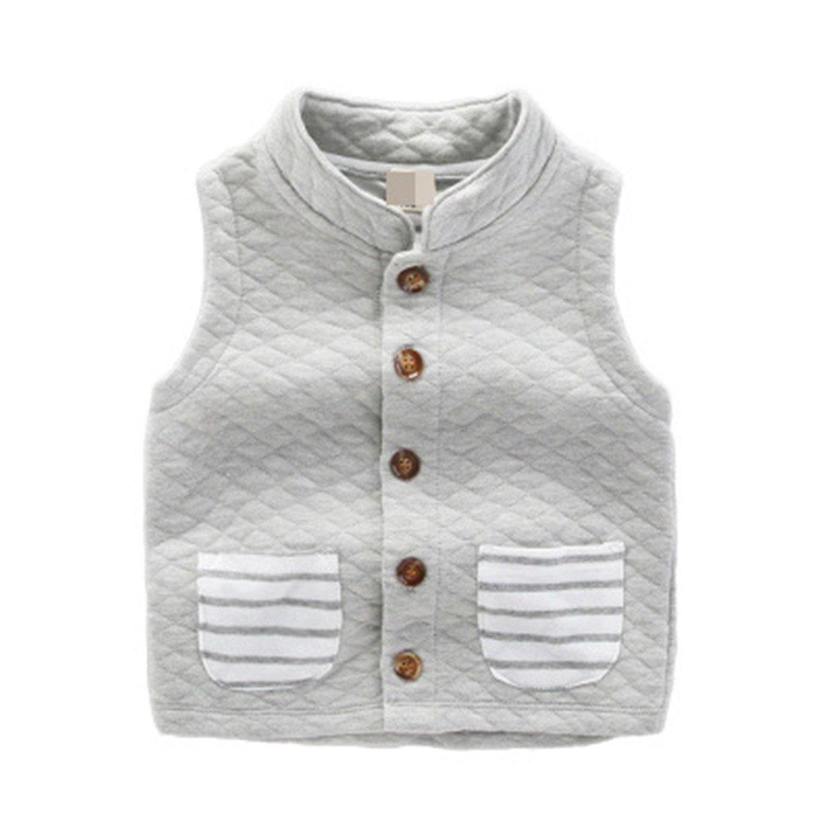 Toddler Unisex Infant Kid Boys Girls Front Button Pocket Fleece Vest Waistcoat bhnvytvo91