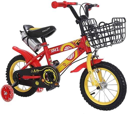 Jiamuxiangsi De niños for Bicicleta niños y Regalo de cumpleaños del Juguete for Chicos, Chicas Ruedas de Entrenamiento Bicicleta Bebe (Color : Rojo, Talla : 14 Inches): Amazon.es: Hogar
